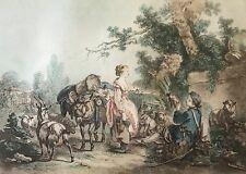 Jean-Baptiste Huet graveur Gilles Demarteau  France aquatinte XIXe