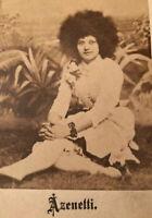 Antique 1870 Carte de Visite CDV Photo Circus Madame Azenetti Circassian Vixen