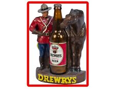 Drewry's Beer Mountie Advertising Figure Refrigerator / Tool Box Magnet