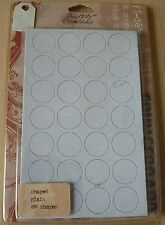 Tim Holtz Idea-ology Grungeboard Shapes, Plain, TH92710, 176 Shapes