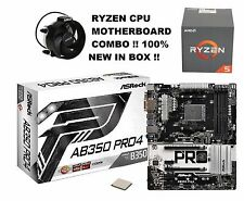 COMBO: AMD Ryzen 5 1400 4-CORE 8-Thread CPU & ASRock AB350 Pro4 AM4
