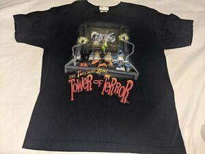 Vintage Disney Twilight Zone Tower of Terror Mickey Shirt Disneyland Youth XL
