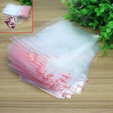 9x13CM 100 Buste Bustine Sacchetti Trasparenti Chiusura a Pressione Plastica