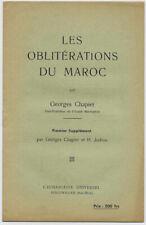 LES OBLITERATIONS DU MAROC PAR GEORGES CHAPIER ET H. JODION