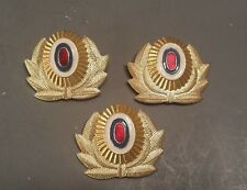 3 Russian Hat Pin Medal Badge Police Military Red White Blue Gold Metal Cockade
