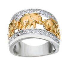 Trendy Women Men  925 Silver Animal Elephant Wedding Gift Band Ring Size 6-10