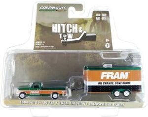 """Chase 1994 FORD F-150 XLT PICKUP & HAULER """"FRAM OIL"""" 1/64 GREENLIGHT 32210 B"""