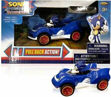 "Mini 4"" Sonic the Hedgehog Movie SEGA Racing Pull Back Speed Racer Car"