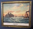 Vintage Rubsam & Horrmann Brewing CO. R&H NY Harbor Advertising Bar Print ROSNER