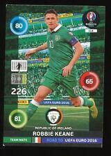 114 ROBBIE KEANE IRELAND CARTE CARD ADRENALYN ROAD TO UEFA EURO 2016 PANINI D