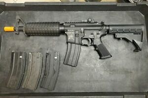 G&P Full Metal WOC Airsoft Gas Blowback Rifle w 4 mags and upgrade parts