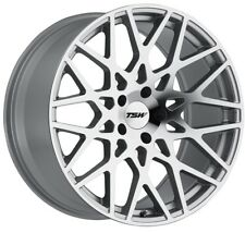 17x8 TSW Vale 5x100 Rims +35 Silver Wheels (Set of 4)