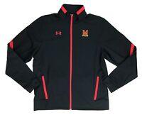 Under Armour Maryland Terrapins Basketball Full Zip Warm Up Jacket Men's L Black