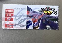1999  Coca Cola 600 Autograph Signed ticket stub Earnhardt Jr First Race Jsa