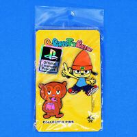 """PaRappa The Rapper and PJ Berri Enamel Pin Set (2"""" Tall) Figure Official Sony"""
