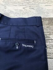Stromberg Golf Tour Trousers W36 Short Leg Navy Blue Excellent Condition
