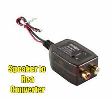Add an Amp to Factory System Car Speaker to RCA Line Level Converter Adapter