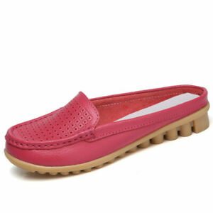 Womens Mom Casual Slip On Mules Slippers Outdoor Hollow Sandal Shoes Loafer 42