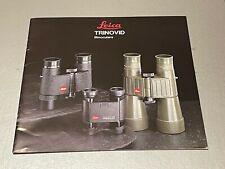 Leiitz Trinovid Binoculars,  8 x 8 In  20 Page Product Brochure, 1989