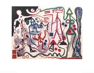 A.R. Penck - Ten X Den X Zen 1 - Hochwertiger Kunstdruck n.d. Original v. 1983