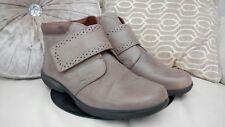 Botas de cuero para mujer más cálidos talla 6, cómodo, senderismo, botas de invierno, Velcro ❄