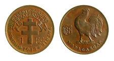 s291_33)  Madagascar 1 Franc KM# 2 1943 SA