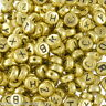 "500 Antikgold Buchstaben ""A-Z"" Acryl Spacer Perlen Beads Zwischenteile 7mm"