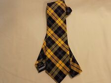 Tommy Hilfiger 100% Silk Necktie 'Yellow & Navy Plaid' NEW-$65 Retail