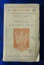 A. PANZINI - NOVELLE D'AMBO I SESSI - 1920