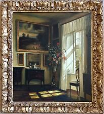 Studio of Miguel Canals (Spanish, 1925-1995) Oil Painting on canvas gilt frame
