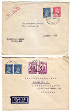 TURKEY 1950´S  GROUP OF TWO AIR MAIL COVERS GERMANY AND U.S.A