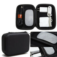 USB Cable Charger Pouch Portable Travel Bag Earphone Storage Hard Case