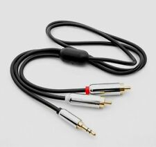 6Ft Premium 3.5mm Stereo Male Plug to 2 RCA Male Audio Cable MP3 PC iPod Gold