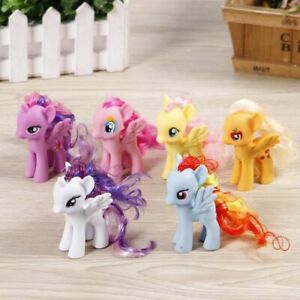 6 Pcs 3.1in Lot of My Little Horse Funny Cake Toppers Action Figure Toys Gift