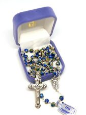 Genuine Cloisonne Rosary - Beautiful Blue 5mm Beads