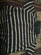 4x Ralph Lauren Blue And White Striped Short Sleeve Polo