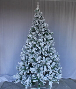 Perfect Holiday Christmas Tree, 1.8m, Flocked Snow. Huge Saving