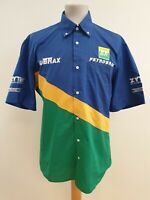 I793 MENS SPARCO S/SLEEVE BLUE GREEN YELLOW LOOSE FIT SHIRT UK L EU 52