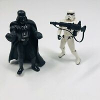 Star Wars Power of the Force Darth Vader 1998 & Storm Trooper 1995 Action Figure
