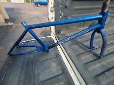 "1983 Raleigh R2000 Frame Fork Set Blue 19.5"" Aero Tubing Old School BMX"