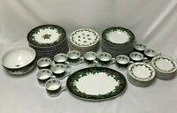 62 PIECE SET OF WAVERLY HOLIDAY BOUQUET CHRISTMAS DISHES SUPER NICE