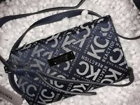 New Kenneth Cole Reaction Cross-body Navy Wallet 8 x 5 inches