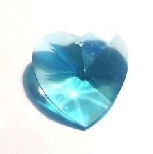 RETIRED-40mm Swarovski  Antique Green Heart Crystal Prisms W/Logo 8781-40 CCI