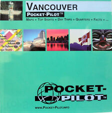 NEW 2005~MAP OF VANCOUVER~PocketPilot,Waterproof-1 oz-Detail of SkyTrain& SeaBus