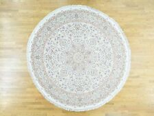 """10'1""""x10'1"""" Hand-Knotted Persian Tabriz Round Wool And Silk Oriental Rug Sh31958"""