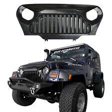Matte Black Gladiator Grill Grille w/Mesh Inserts for Jeep Wrangler TJ 97-06