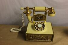 Vintage Western Electric  Rotary French styl Phone Ivory Gold by Deco-Tel WORKS
