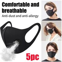 5PC Reusable Anti Dust PM2.5 Face Mask Carbon Filter Multi Layer