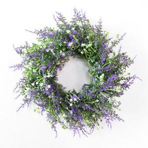 Artificial Silk Flower Acacia Fake Wreath Nature Purple Plant Home Door Decor