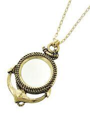 REDWOOD COASTAL - Antiq Gold Medallion ANCHOR Necklace NWT 8487 magnifying glass